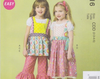 McCall's Sewing Pattern M6916 Chidren's/Girls' Top, Dress, Pinafores New UNCUT
