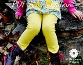 S128 Essential Leggings PDF Sewing Pattern, Girl, Toddler, Baby Leggings Pattern, Ruffle Leggings, Cuff Leggings, Basic Leggings, 0-3m - 10y