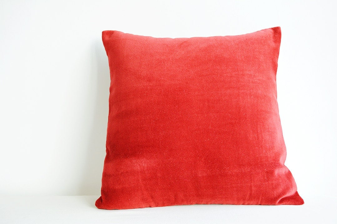 Timorous Beasties Devil Damask Cushion Red On Plush hand printed velvet cushion complete with feather pad cushion inner and concealed zip fastener. An item from the fabulous Timorous Beasties where the devil is definitely in.