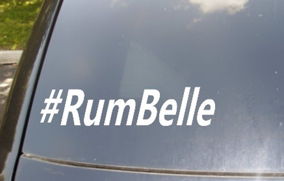 Rum Belle Hastag Car Sticker