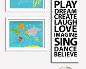 Play room decor, Typography, 12X36, Gift for home, Art for kids, Playroom decor, canvas print,Decor for boys, Children art