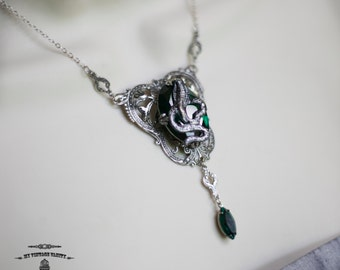 Slytherin Harry Potter Hogwarts Necklace SAVE10 for a 10% discount