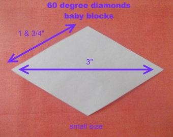 500 Diamond 60 deg Paper Templates for Patchwork ~ small, medium & large