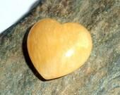 Orange Calcite Gemstone Carved Heart Small