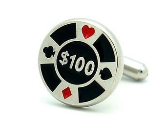 Poker Chip Cufflinks