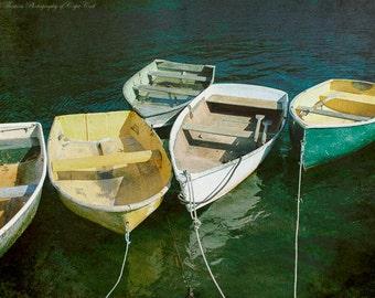 BOAT Photography ~ ROWBOATS Fine Art Photography, Coastal Beach Nautical Marine Art, Atlantic Ocean Print, Nature Art,