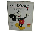 The Art of Walt Disney from Mickey Mouse to the Magic Kingdoms 1975 Vintage Book