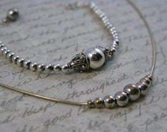 SALE  Sterling Silver Necklace and Bracelet