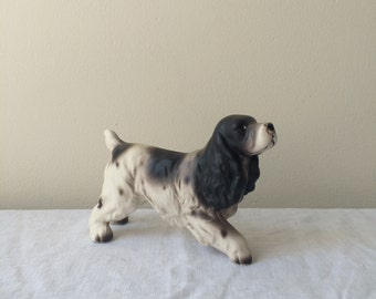 Vintage ceramic spaniel dog figurine