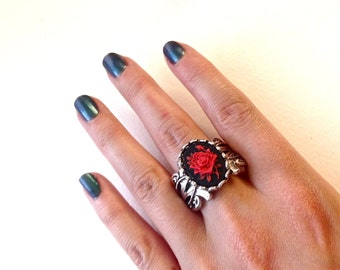 Rose Cameo Ring