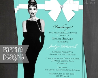 Printable Breakfast at Tiffany's Bridal Shower Invitation - Digital File ONLY