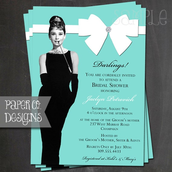 Breakfast At Tiffany S Bridal Shower Invitation Birthday