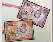The Butterfly and The Rose Gift Tags set of 8  No.594