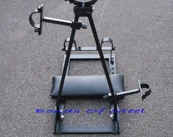 Adjustable Kneeling Stock With Pivoting Frame BDSM Bonds of Steel Mature Fetlife