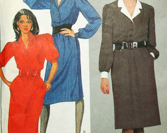 Vintage Pullover Dress Sewing Pattern McCalls 8656 UNCUT Bust 36 1980s