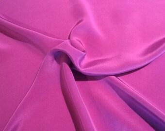 Plum Pure Silk Crepe de Chine Fabric--One Yard