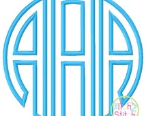 Natural Circle Monogram Applique Font in 5 sizes, INSTANT DOWNLOAD now available
