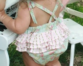 Vintage Inspired Ruffle Bubble Romper