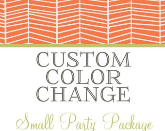 Custom Color Palette Request - Small Party Package