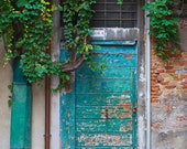 Art, Photography, Venice Photography, Italy,Travel Photography, Wall Art, Vintage, Turquoise Door, Print