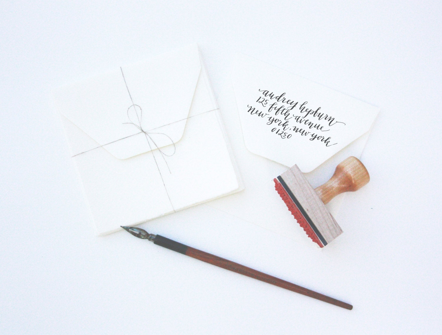 Custom Calligraphy Stamp From Thehivestudioshop On Etsy Studio