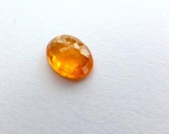 GARNET. With CERT Spessartite Mandarin Garnet. Natural Fanta Orange. Micro Facet Cab. OvAL. 1pc. 1.6 cts. 8x6 mm Aigs Certificate (ga362)