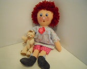 Rag Dolls PRIMITIVE Babs and her Bear