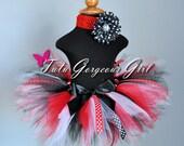 Red, Black, White Lady Bug Ribbon Tutu...Polka Dot Ribbon Streamers, Lady Bug Costume Tutu...Baby, Toddler, Girls Sizes . . . LIL LADY BUG