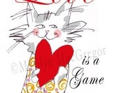 Love is a Game Valentine Card - MacGregorArt