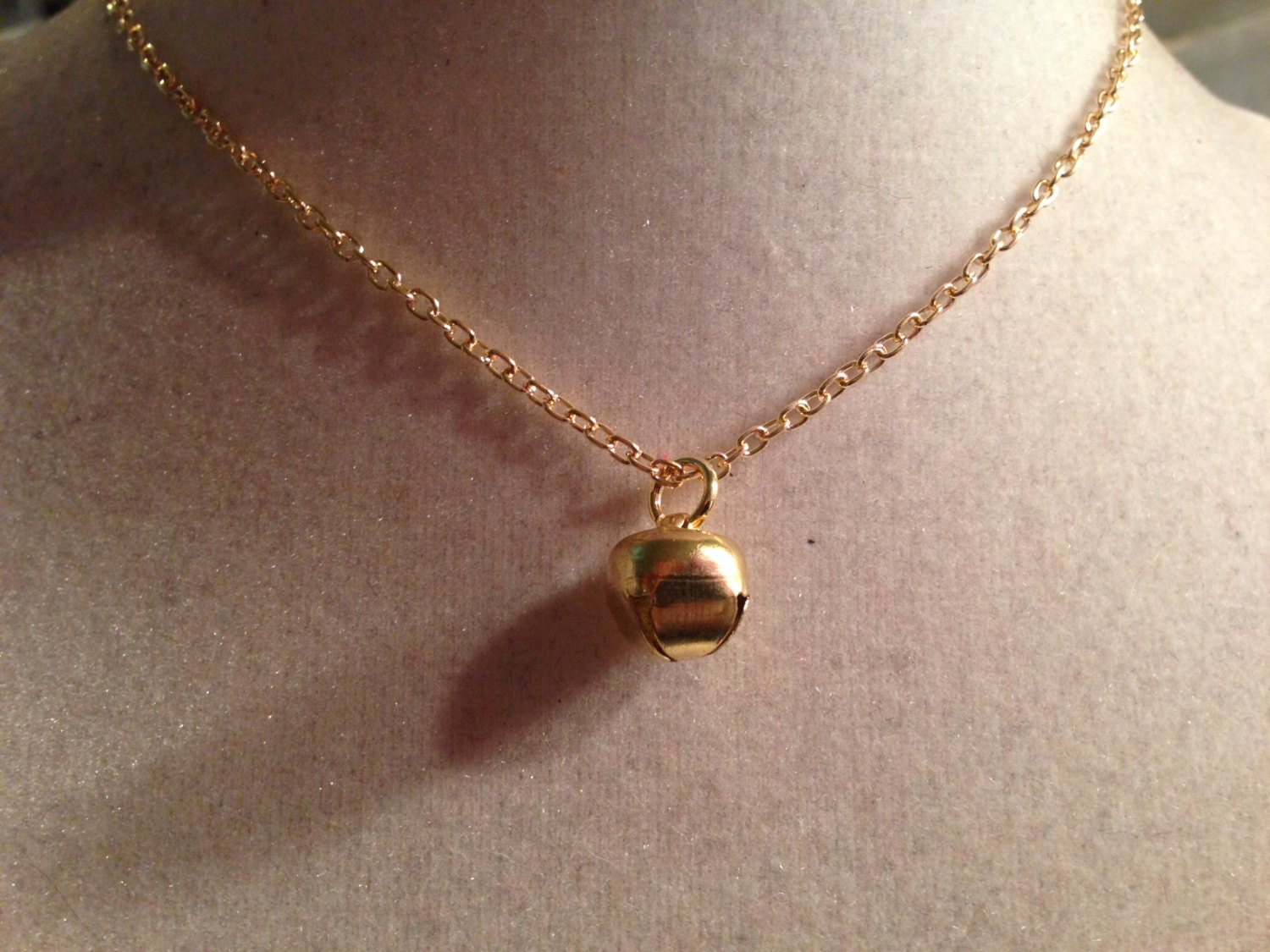bell necklace jingle bell necklace gold jewelry pendant
