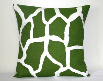 Green and White Pillow, Accent Pillow, throw Pillow, Cushion Cover