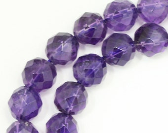 Amethyst Beads - 8mm Faceted Round