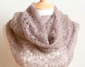 CROCHET PATTERN instant download - Chaos Corrected Cowl - lilac purple lacy intricate feminine neck warmer tutorial PDF