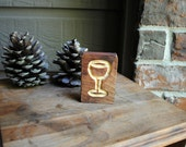 Carved Wine Glass Wood Sign - Reclaimed Wood