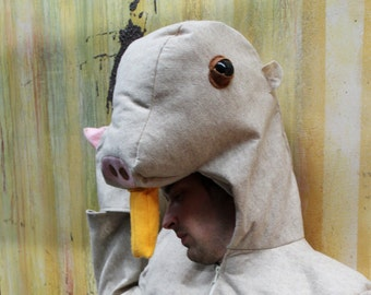 Custom Size Naked Mole Rat Costume for Adult or Child