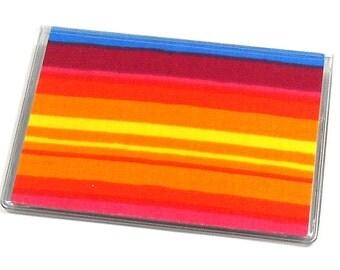 Card Case Mini Wallet Rainbow Stripes