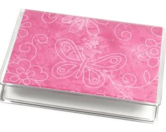 SALE Card Case Mini Wallet Butterflies & Flowers