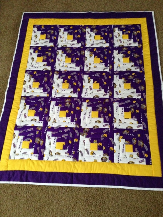 Lap Quilt Or Throw Made From LSU Louisiana By