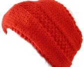 Womens Hand Knit Red Headband, Womens Earwarmers - MADE TO ORDER, Teen Headband, Winter Headband