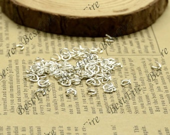 300pcs of Silver Tone  Open Jump ring 4 mm