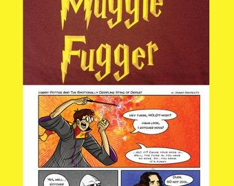 Harry Potter 2 pack! Bad Muggle Fugger Tshirt and Cartoon Print