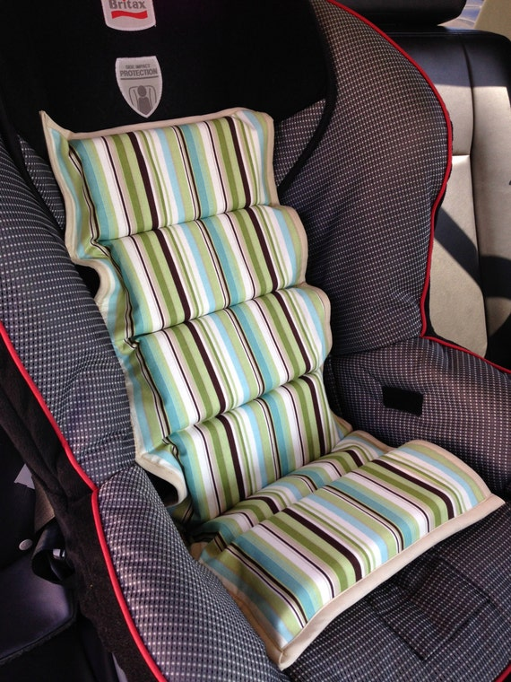 ready to ship gender neutral striped car seat cooler. Black Bedroom Furniture Sets. Home Design Ideas