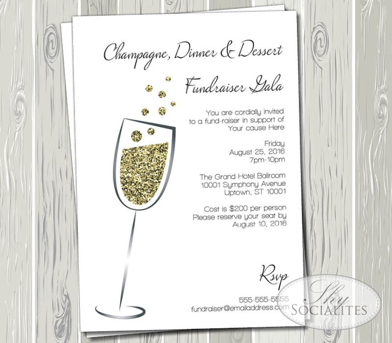 Fundraiser New Year Invitation – Merry Christmas And Happy New ...