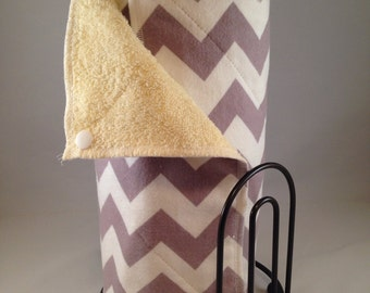 Snapping UnPaper Towels - Medium Grey Chevron