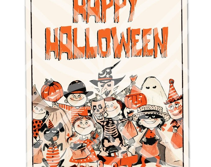 Happy Halloween Sign - Digital File - Instant Download - Print Your Own