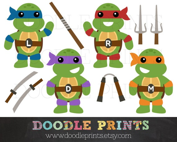 Teenage Mutant Ninja Turtles Clipart Design Weapons Personal