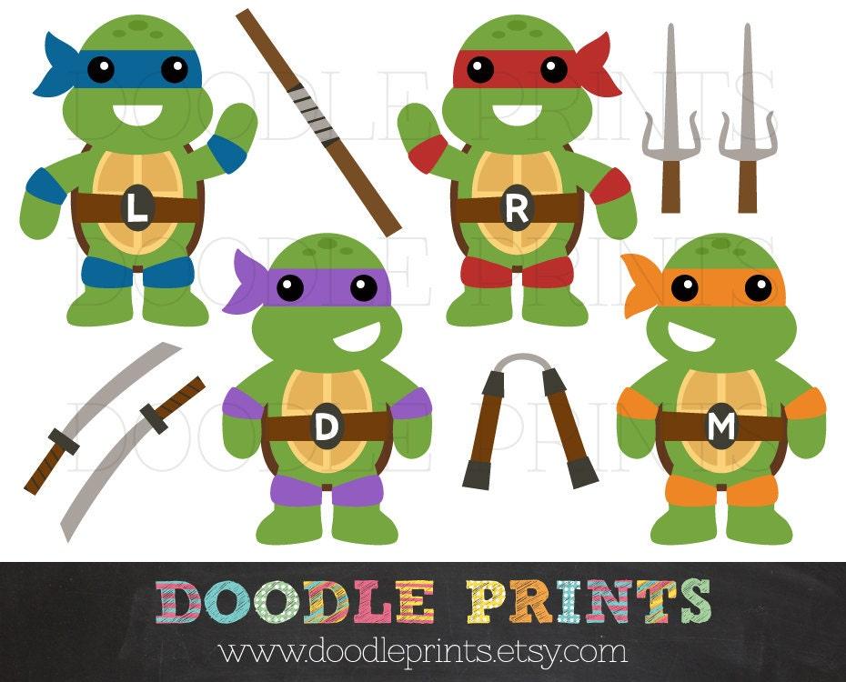 Tmnt Ninja Turtles Digital Clip Art Printable Images