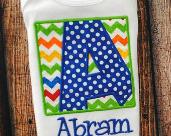 Personalized Initial Box Shirt or body suit