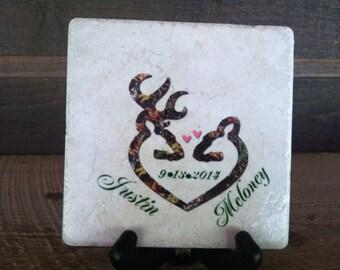 Camo Wedding Tile
