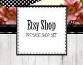 Premade Etsy Shop Banner & Avatar Shop Set Boutique Style Pre-Made Etsy Shop  (Summer Rose)